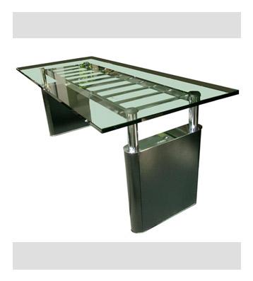 Groisman muebles de oficinas muebles mesas de reuni n - Mesa de mimbre y cristal ...